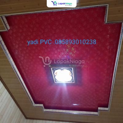 Penjualan plafon PVC lengkap dan  pemasangannya (terima jadi)